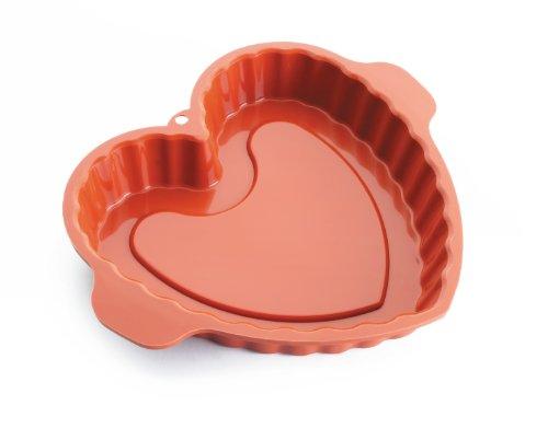 Lacor 66741 - Molde corazón, silicona, rojo width=