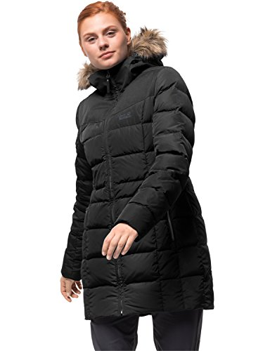 Baffin Island Coat Daunenmantel Winddicht Atmungsaktiv Mantel, schwarz, L ()
