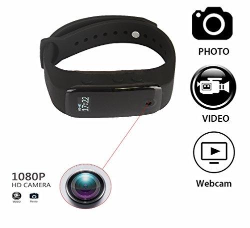 Joycam full hd 1080p spy telecamera orologio watch band mini spia videocamera nascosta dv video recorder macchina fotografica digitale bracciale (fotocamera del foro)