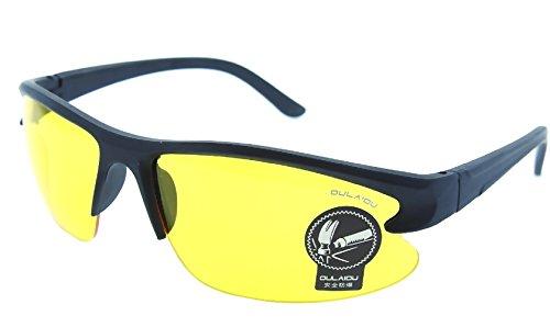 Inception Pro Infinite Sonnenbrillen - Sportarten - Männer - Laufen - Radfahren - Ski - Polarized Uv400 - (Schwarzer Rahmen - Gelbe Linse)