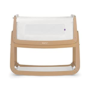 SnuzPod 3 Bedside Crib - Natural Zhao ♥ Product Name: Removable Baby Crib// Size: 60*90CM//Material: Wood; ♥Characteristics: Sturdy detachable beam, can be pushed and pushed double mode, mosquito net and sunshade, lower storage pocket, high quality colored cotton comfortable mattress, soft and smooth, giving baby comfort and enjoyment; ♥Bionic uterus design, give your baby enough safety, let the baby sleep sweetly; 10