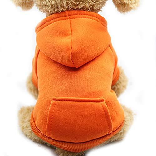 Kostüm Wetter Warmes - NashaFeiLi Haustier Kleidung Hund Kapuzen-Sweatshirt mit Tasche Fleece Warm Mantel Kalt Wetter Kostüm für Welpen Kleine Meidum Hund