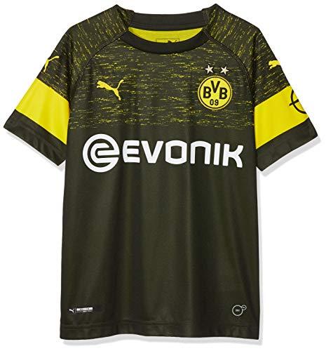 PUMA Kinder BVB Away Shirt Replica Jr Evonik with OPEL Logo Trikot, Black, 128