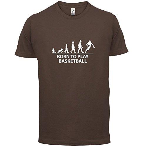 Born To Play Basketball - Herren T-Shirt - 13 Farben Schokobraun