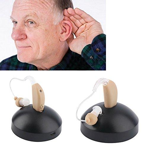 Toplifee auricolari ricaricabili apparecchi acustici mini dispositivo amplificatore per orecchio apparecchi acustici digitali dietro l'orecchio per anziani