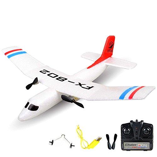 2.4GHz RC ferngesteuertes mini Segelflugzeug Glider, Segler, Flieger Inkl. Fernsteuerung und Zubehör, Geeignet für Anfänger und Profis, Ready-To-Fly, Top-Design
