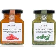 Two Delicioso Mojo Salsas - Rojo and Verde