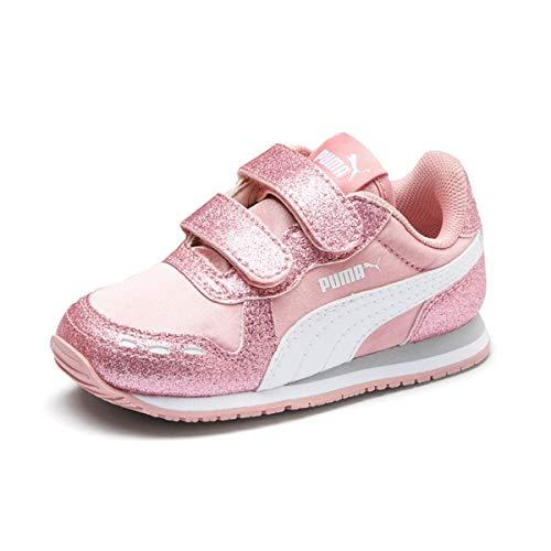 Puma Kinder Sneaker Cabana Racer Glitz V 370986 Bridal Rose-Puma White-Gray Violet 23