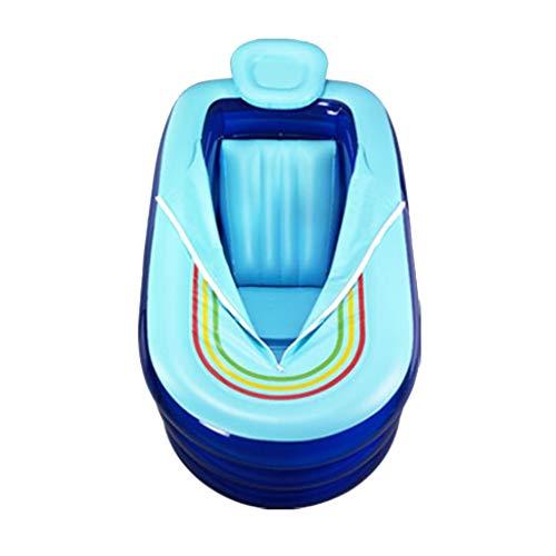 Badewannen-aufblasbare Erwachsene Bade Verdicken Elektrische Pumpe PVCs (Color : Blue, Size : 78 * 168 * 45cm)