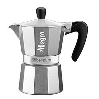 Bialetti 6015 Aeternum Espressokocher allegra 3 Tassen, silber