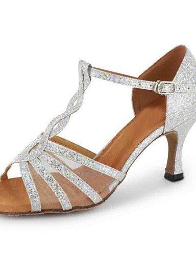 La mode moderne Sandales femmes personnalisables Chaussures de danse en similicuir similicuir sandales talon d'Amérique latine sur mesure de performance professionnelle débutant pratique US9/EU40/UK7/CN41