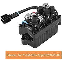 Fueraborda Motor Relé, 12 Voltio 2-Pin Fueraborda Accesorios Recortar Motor 63P-81950-00-00 Duradero Relé para Yamaha 4 Tiempos Fueraborda Modelos - Negro