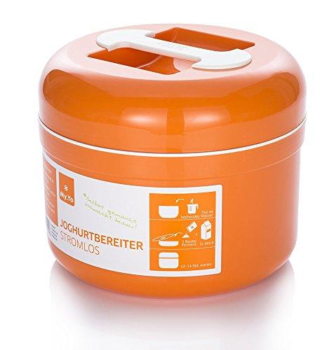 Stromloser My.Yo Joghurtbereiter, in Mandarine + 2 Beutel Bio-Fermente gratis! (Strom Machen)
