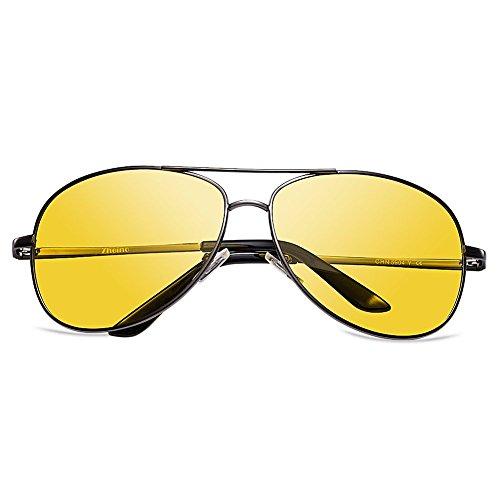 Zheino 5904 Full Mirror Sonnenbrille Unisex Polarisierende Piloten Sonnenbrille Brille 400UV Anti Glare Driving Gläser Reiten Sport Brillen Gelb