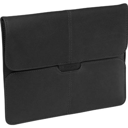 Targus Hughes Portfolio Slipcase für iPad/iPad2, Leder, schwarz (Targus Case Notebook Leather)