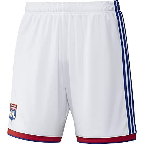 adidas Herren Olympique Lyon Shorts L White/Collegiate Red -