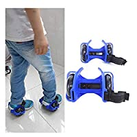 DAYONG Hot Flash Roller Skate Shoes Scooter Flashing Wheels Toys for Kids - Blue