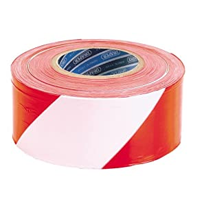 Draper Hardware 66041 72 mm x 500 m Barrier Tape (Red and White)