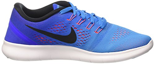 Nike Free Run 831509, Scarpe Running Donna Multicolore (Blue Glow/Black-Racer Blue)