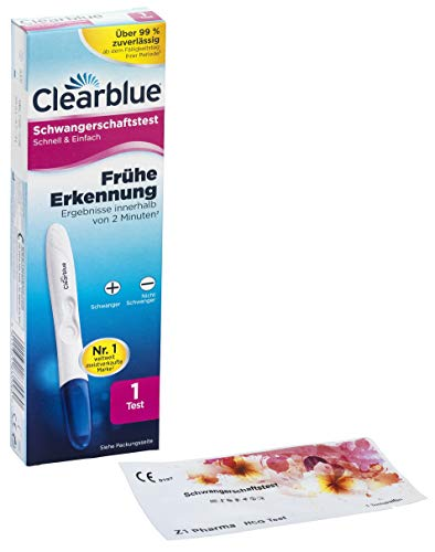 Clearblue Frühe Erkennung Schwangerschaftstest + 1x Z1 Pharma Schwangerschaftstest