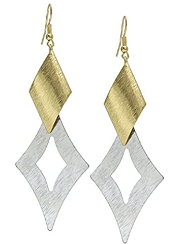 SaySure- Charm Double Alloy Geometry Gold Color Silver Color