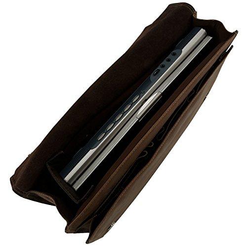 Harold's Antico borsa a tracolla pelle 38 cm compartimenti portatile taupe