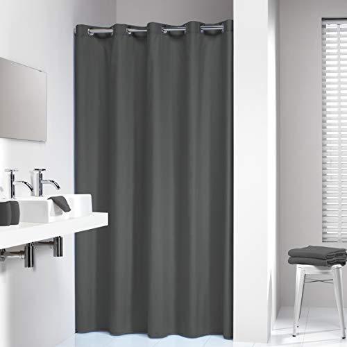 Sealskin Textil Duschvorhang Coloris, Farbe: Grau, B x H: 180 x 200 cm (Farbe Duschvorhang)