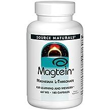 Magtein, magnesio L-treonato, 667 mg, 180 cápsulas - Source Naturals