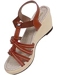 GXN Party Wear Wedge Sandal For Women - B07459ZR29