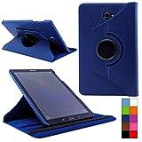 COOVY® Cover für Samsung TAB A 10.1 SM-T580 SM-T585 Rotation 360° Smart Hülle Tasche Etui Case Schutz Ständer Auto Sleep/Wake up | Farbe dunkelblau