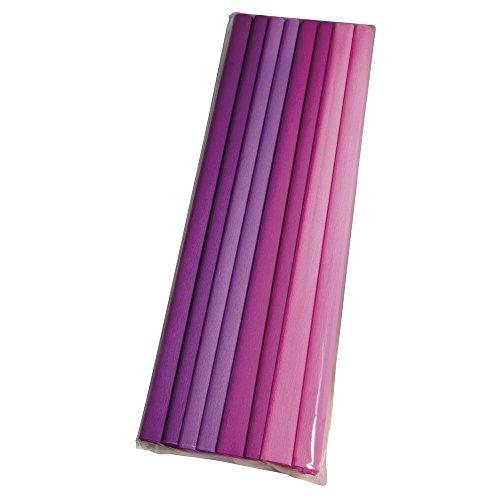 Rayher 73138000 Bastelkrepp Set- Rosa/Lilatöne, 250x50cm, 30g/m²,4 Farben, Beutel 8Rolle