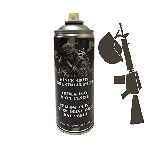 kings-army-yellow-olive-green-olive-drab-ral-6014-industrial-military-matt-spray-paint-400ml-militar
