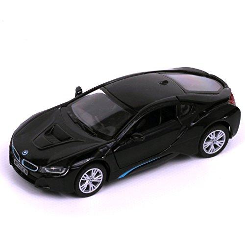 BMW I8 Coupé, negro, de 2013, escala 1/43, modelo Rastar