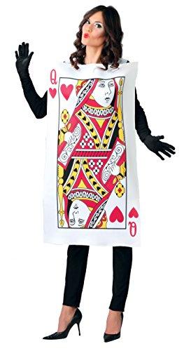 Alice Karte Wonderland Kostüm - Guirca-Kostüm Erwachsene Dame von Briefen, Größe 42-44(80780.0)
