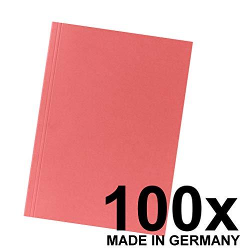 Falken Aktendeckel aus Recycling-Karton für DIN A4 rot 100er Pack Blauer Engel Hefter ideal für das Büro und Schule und die mobile Organisation