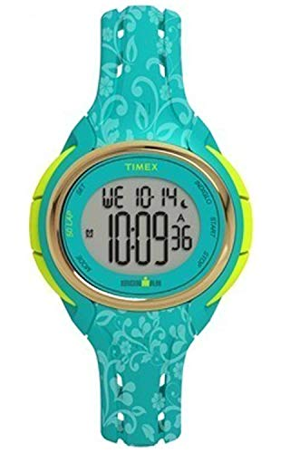 Timex Damen Digital Quarz Uhr mit Silikon Armband TW5M03100 (Timex Damen-armbanduhr Blau)