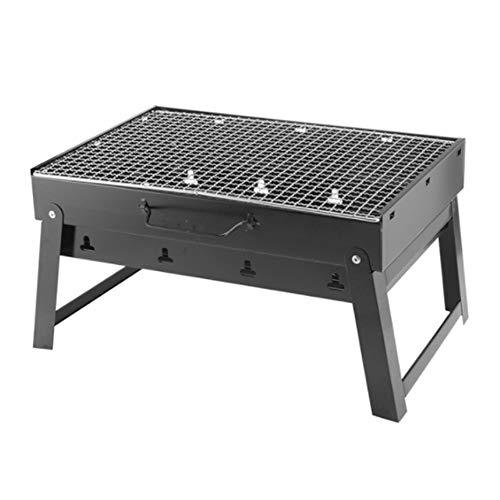 ZTXY Engrosado Parrilla Plegable portátil Parrillas al Aire Libre hogar carbón de...