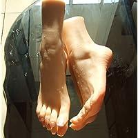 1 Par Silicona Maniquí Pie, Fetichismo del pie, juego de pies con la masturbación, juguete para el pie, modelo de pie de 36A para niña, pasatiempo del tobillo, simulación del pie,onepair