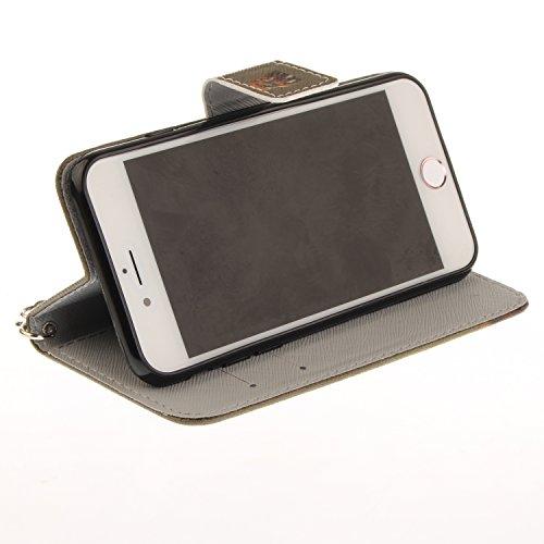 LAOKE Apple iPhone 7 (4.7 pouces) Folio Flip Coque, Pretty Personnalité Très Protecteur Bonne Qualité PU Cuir Portefeuille et Card Slot Étui en Flip Cover /Anti-rayures Smart Case pour Apple iPhone 7  1