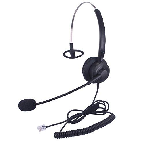 Xintronics Auriculares Teléfono Fijo Monoaural RJ9