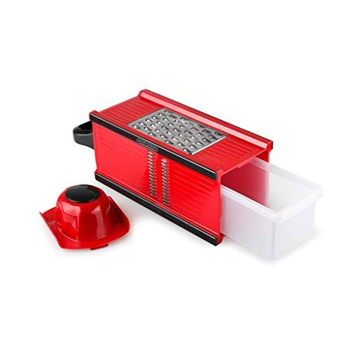 Picador y Cortador de Vegetales Multi-función, rallador patato utilitario con Protector para los Dedos, rebanador Manual de Pepino con contenedor de Gran Capacidad