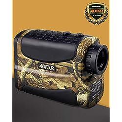 AOFAR Télémètre de Golf Chasse-700m 6x 25mm Étanche Multifonction RangeFinder Télescope Monoculaire, Scan, Verrou de mât du drapeau, Brouillard et vitesse, La pile gratuite