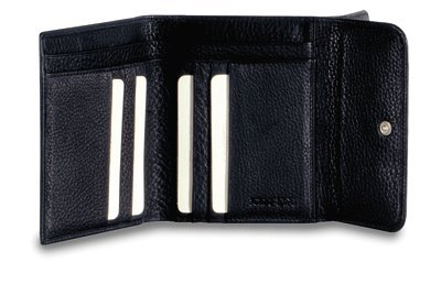 Portafoglio Piquadro Modus nero da donna con tasca porta monete e porta carte di credito PD1037MO/N
