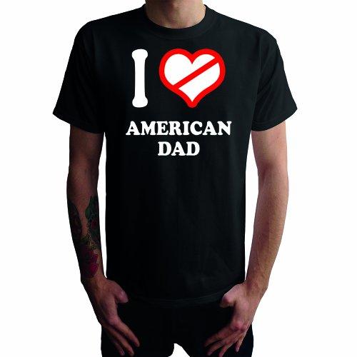 I don't love American Dad Herren T-Shirt Schwarz
