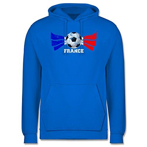 EM 2016 - Frankreich - France Fußball Vintage - Männer Premium Kapuzenpullover / Hoodie Himmelblau