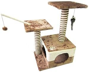 easipet 257 arbre chat marron beige animalerie. Black Bedroom Furniture Sets. Home Design Ideas