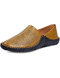 Hot Man Men Premium Tan Casual Shoes Mesh Loafer and Moccassin
