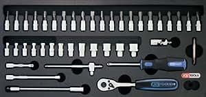 KS Tools 818.1301 Module avec douilles et accessoires 1/4 CHROMEplus 46 pièces
