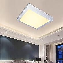 VINGO 12w LED Deckenleuchte Warmweiß Deckenlampe Modern Deckenbeleuchtung  Wohnzimmer Badleuchte Esszimmer Schlafzimmer Flur Panel Eckig Alu