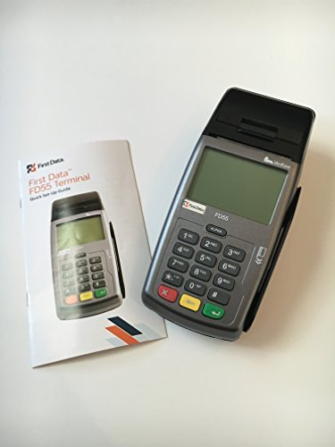 First Data FD55 Dual Com Credit Card Machine, Terminal, N-FD-55, 160Mb, Internet, Ethernet and Dial Connectivity, Integrated Thermal Printer, USB Port, PCI PED Compliant by FIRST DATA